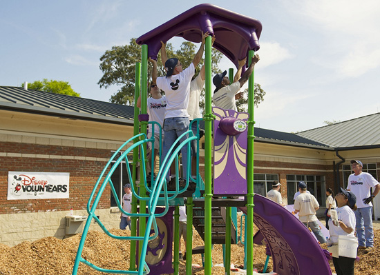 Disney VoluntEARS Help with a KaBOOM! Playground Build at Orlando Day Nursery