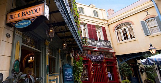 The Blue Bayou Restaurant in New Orleans Square at Disneyland Park