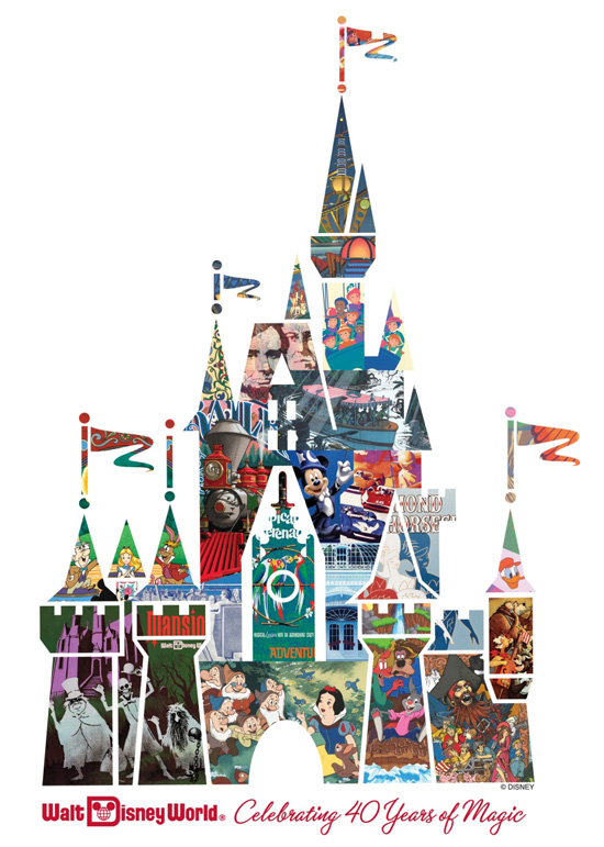 40th Anniversary Cinderella Castle Collage