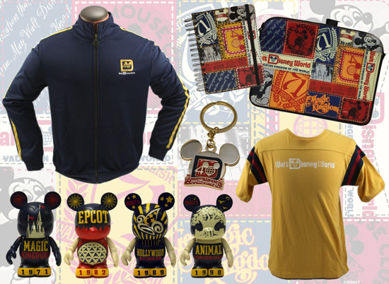 Colorful Merchandise for Walt Disney World's 40th Anniversary