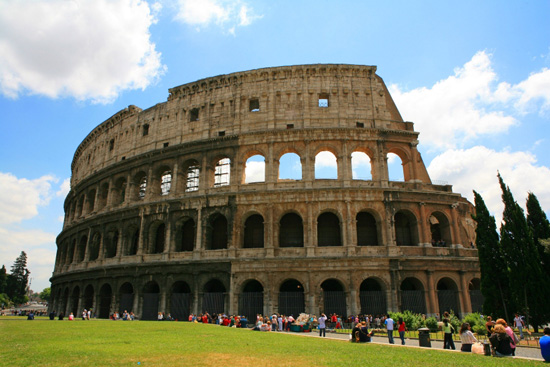 Guests sailing on Europe itineraries can visit the Colosseum in Rome.