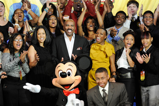 Steve Harvey and Members of Disney's Dreamers Academy