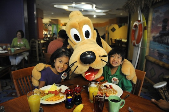 Pluto Enjoying Breakfast with a Few Guests
