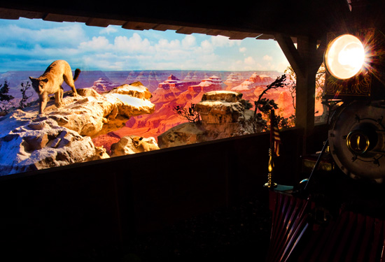 The Grand Canyon Diorama on the Disneyland Railroad at Disneyland Park
