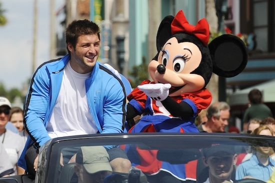 Tim Tebow and Minnie Mouse at ESPN The Weekend