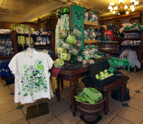 St. Patrick's Day Merchandise at the Emporium in Magic Kingdom