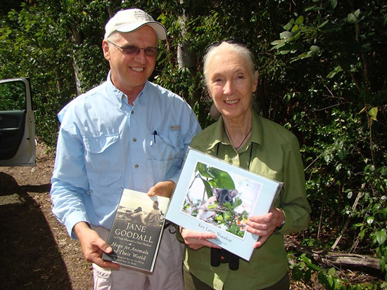 Crocodile Lake National Wildlife Refuge Manager Steve Klett and Dr. Jane Goodall