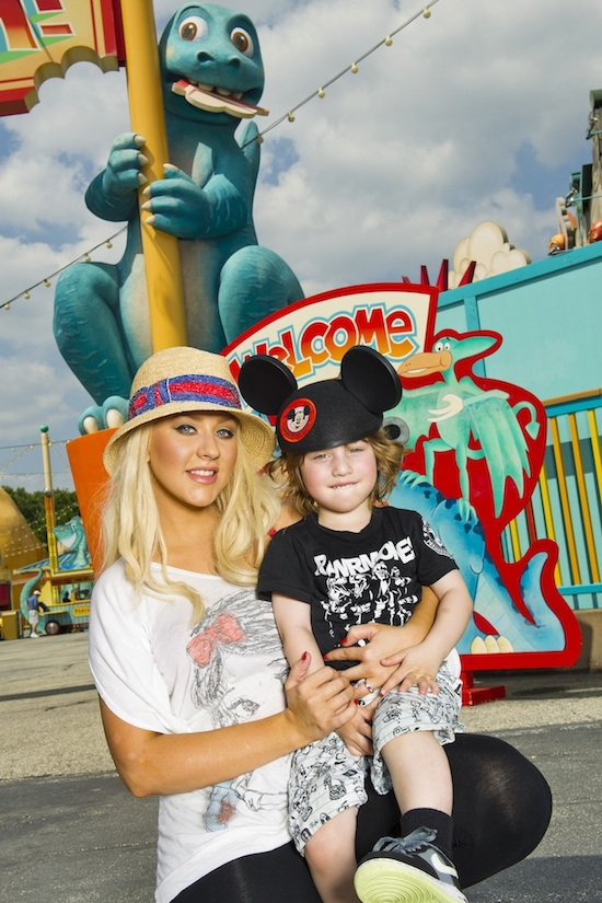 Christina Aguilera Visited Walt Disney World Resort with Her Son Max