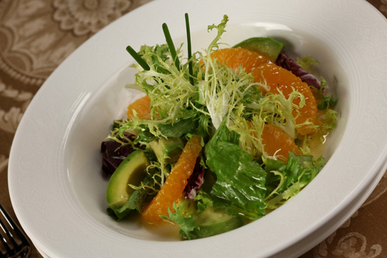 Avocado Citrus Salad at Royal Palace on the Disney Dream