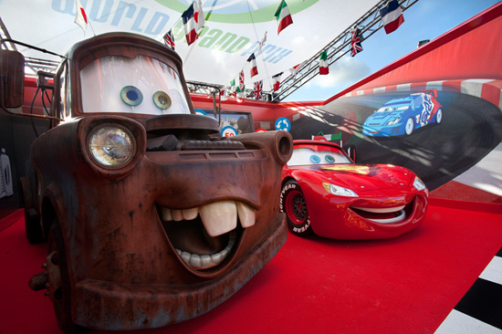 Mater and Lightning McQueen at Disney California Adventure Park