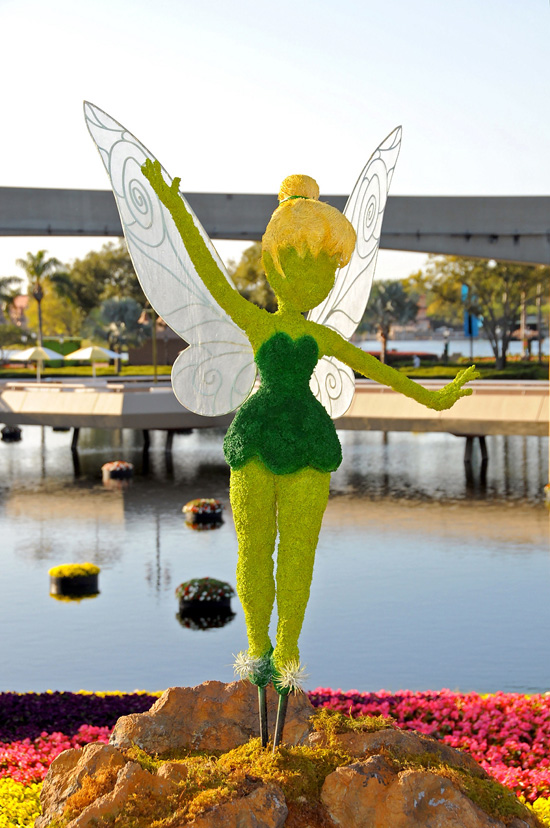Tinker Bell Topiary at Epcot's International Flower and Garden Festival