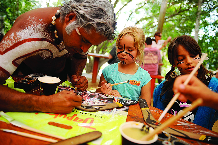 Painting Boomerangs in Australia with Adventures by Disney