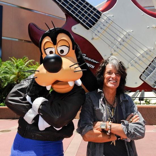 Aerosmith Guitarist Joe Perry Rocks with Goofy and Guests