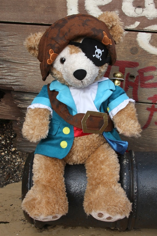 Duffy Wearing His New Pirate Outfit