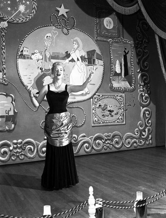 Betty Taylor on stage at the Golden Horseshoe, 1956