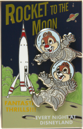 Rocket to the Moon Pin