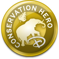 Gowalla Conservation Hero Gold Stamp
