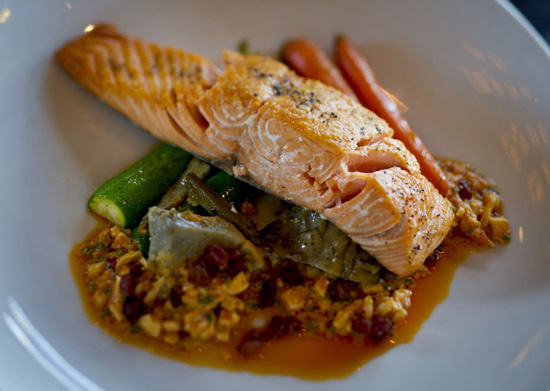 Copper River King Salmon at Artist Point at Disney's Wilderness Lodge