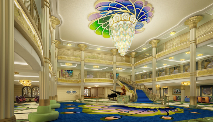 Disney Fantasy Atrium Lobby Will Dazzle Guests With Art Nouveau Style And Sophistication