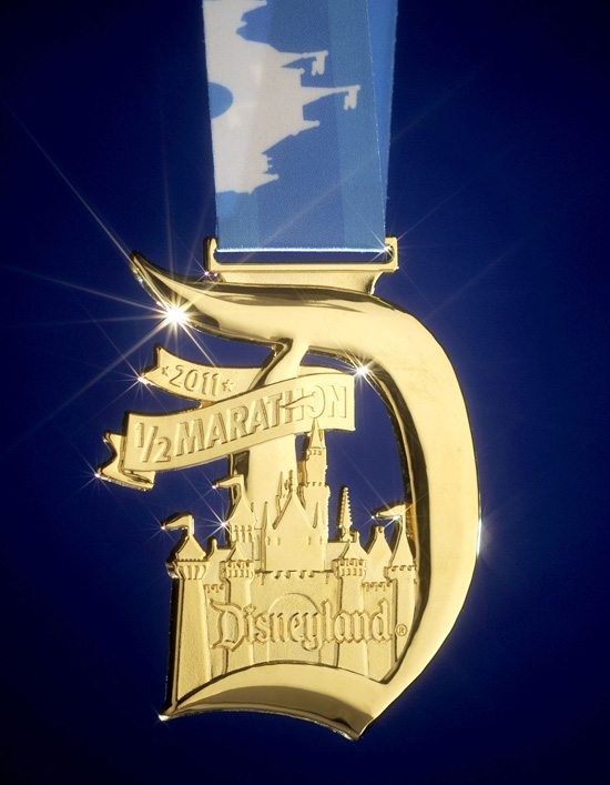 Medal for Disneyland Half Marathon Finishers