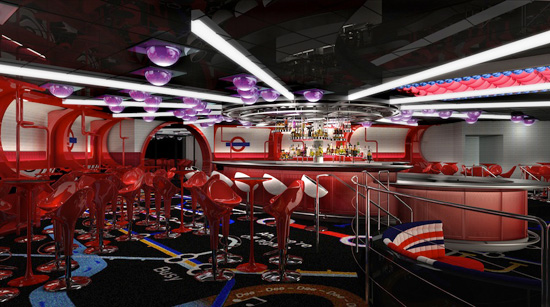 Inside The Tube aboard the Disney Fantasy, adult guests are transported to a vibrant metropolitan club.