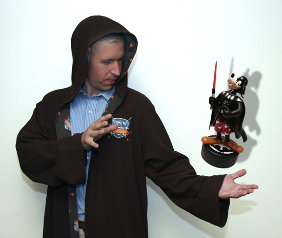 Steven Miller with Goofy as Darth Vader Figurine