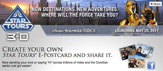 Greetings From Tatooine: Create Customized 'Star Tours' E-Postcards