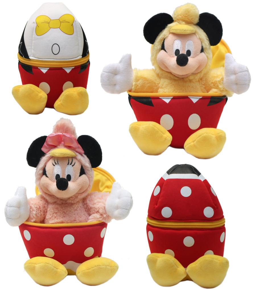 Mickey and Minnie Egg Plush