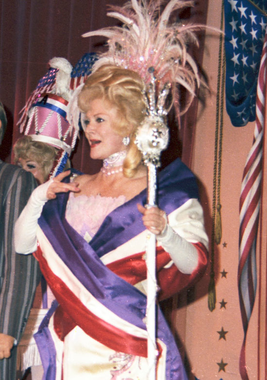 Betty Taylor on stage at the Golden Horseshoe, 1976