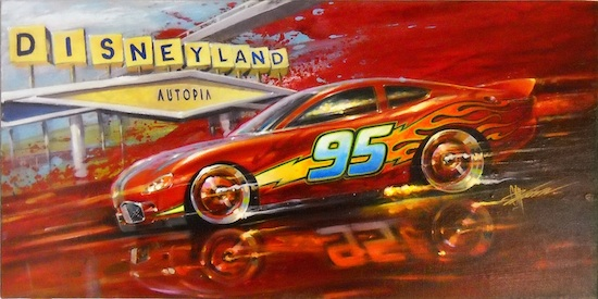 Lightning McQueen of Disney's 'Cars'