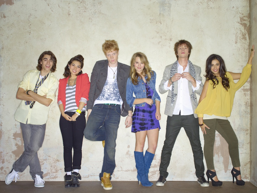 'Lemonade Mouth' Stars: Blake Michael as Charlie, Hayley Kiyoko as Stella, Adam Hicks as Wen, Bridgit Mendler as Olivia, Nick Roux as Scott and Naomi Scott as Mo.