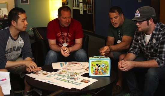 Members of the Disney Design Group Discuss Concepts for the Disney Lunchbox