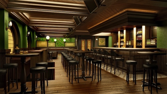 OGills Pub in Europa is an Irish bar with modern twists where guests can sip a pint and catch a game on TV.