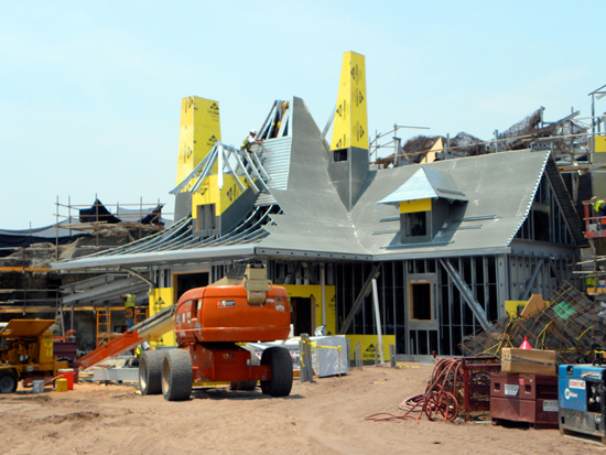 Construction on Maurice's Cottage as Part of the Fantasyland Expansion at Magic Kingdom Park