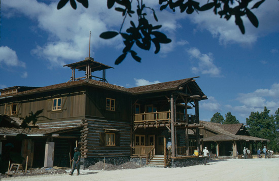 Pioneer Hall Construction in February 1974 at Disney's Fort Wilderness Resort & Campground