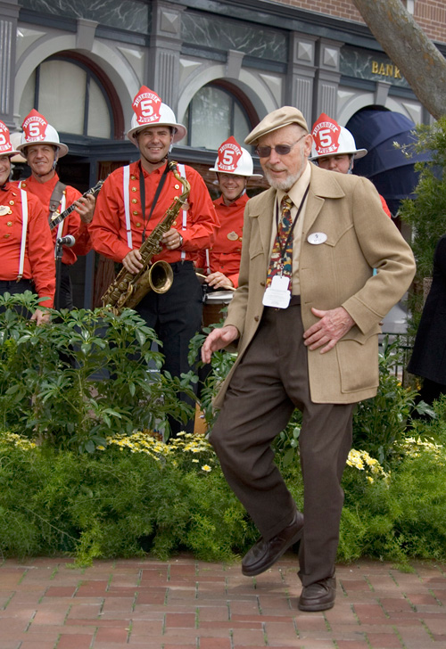 Wally Boag at the opening of Disneyland: The First Magical 50 Years, May 2005