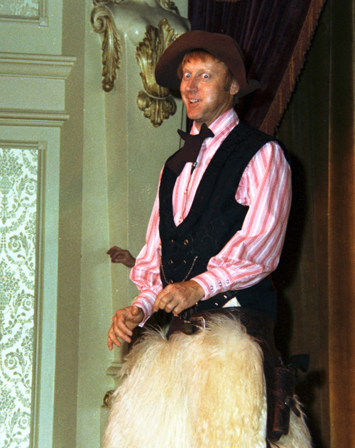 Wally Boag on stage at the Golden Horseshoe, 1976