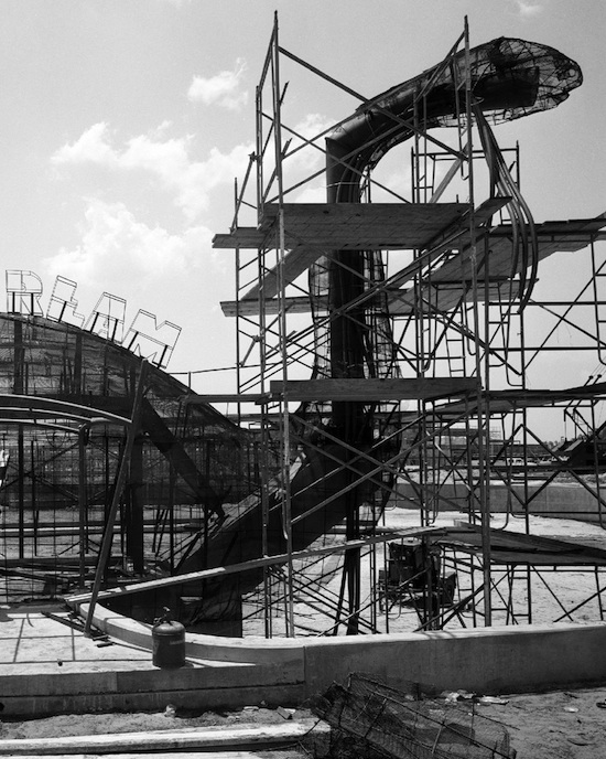 Construction on Gertie the Dinosaur at Disney's Hollywood Studios