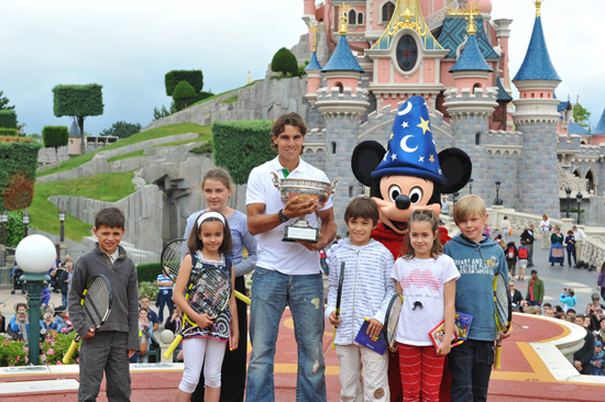 World's No. 1 Tennis Player Rafael Nadal at Disneyland Paris After Winning the French Open