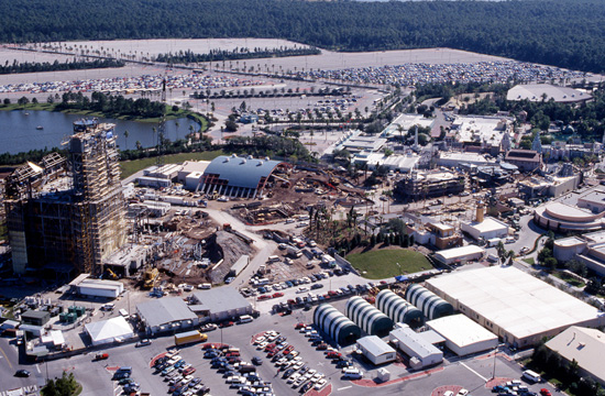 Aerial Look at Sunset Boulevard Under Construction in November 1993