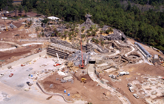 Disney's Typhoon Lagoon Construction Progress in March 1989