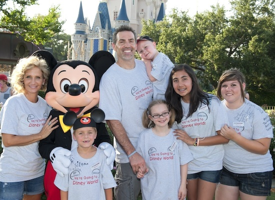 Kurt and Brenda Warner and Children from Warner's First Things First Foundation at Walt Disney World Resort