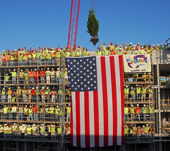 Topping Out Ceremony at Disney's Art of Animation Resort