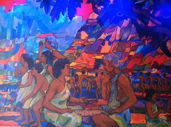 Mural at Makahiki  Bounty of the Islands at Aulani, A Disney Resort &#038; Spa