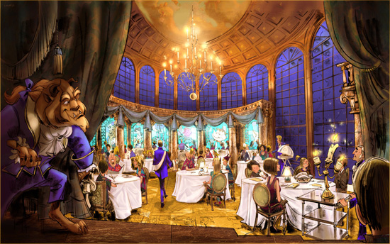 Artist Rendering of the Be Our Guest Restaurant Coming to New Fantasyland at Magic Kingdom Park