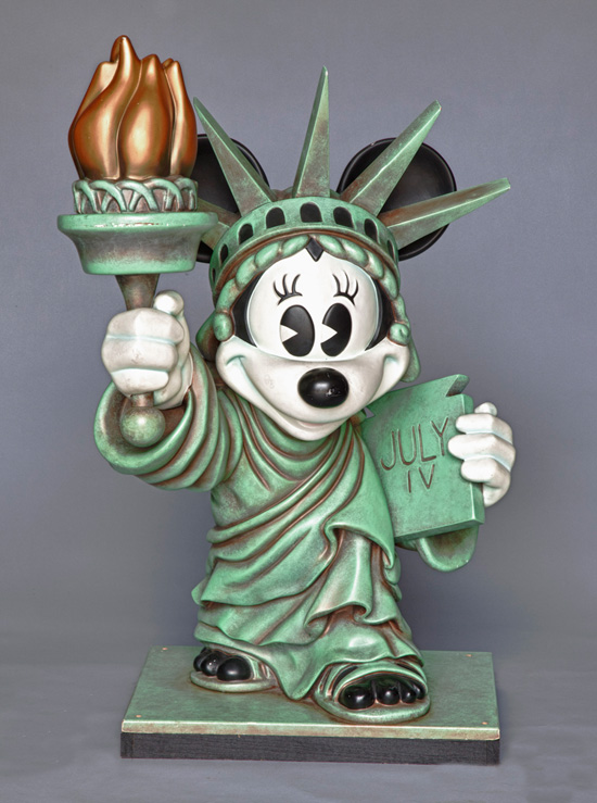 Minnie Mouse as the Statue of Liberty