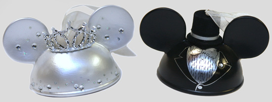 Wedding Ear Hat Ornaments from Disney Parks Merchandise