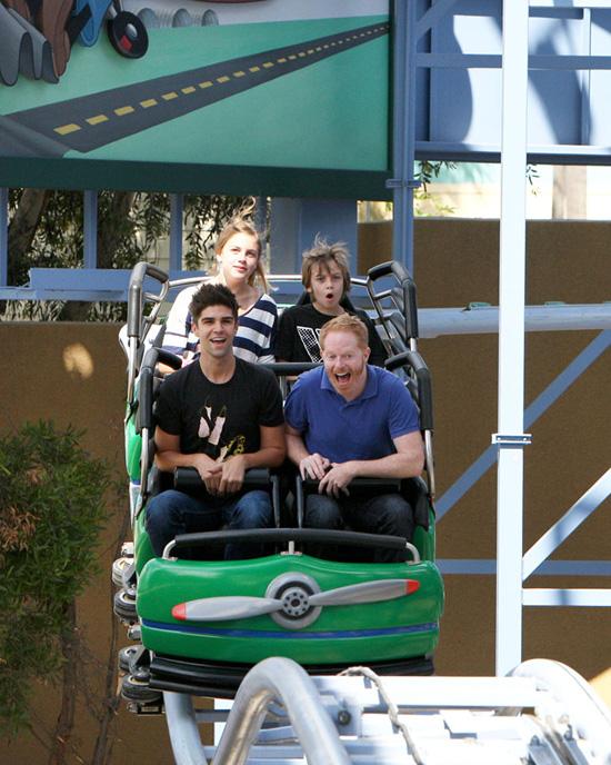 'Modern Family' Star Jesse Tyler Ferguson Visits Disney California Adventure Park