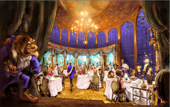 All New Fantasyland Renderings of Beauty, Beast, and Great Goofini