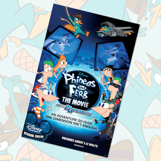 Phineas and Ferb Poster Coming to Disney Parks